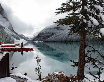 Winter Photo, Winter Photography, Lake Photography, Lake Louise, Mountain Print, Mountain Photography, Landscape Photography, Landscape Art