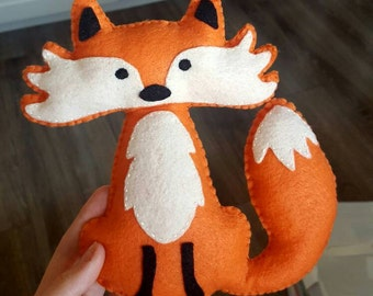Foxy the fox, Fox plushie, Fox stuffed animal.