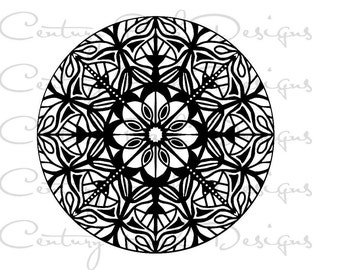 Mandala 003  SVG / JPEG / PNG /pdf / use with Silhouette Studio and Cricut Design Space - Commercial Use - Adult Coloring Page