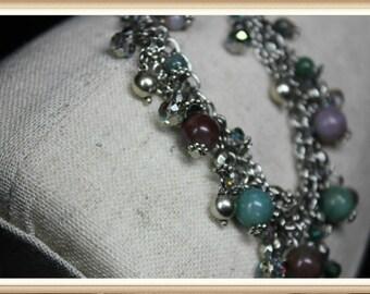 Genuine Agate Stone Dangle Bracelet