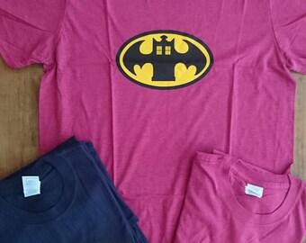 Bat Tshirt, Doctor Tshirt, Doctor Who, Batman, Dr Who Tshirt, Geek Gift, Geek Tshirt, Mash Up Tshirt, Gifts for Him, Gifts for Her, Fandom