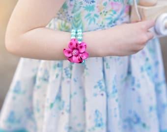 Magenta Flower bracelet