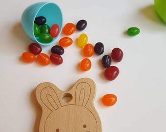 Bunny Wooden Teether/Wood teether/Bunny Teether