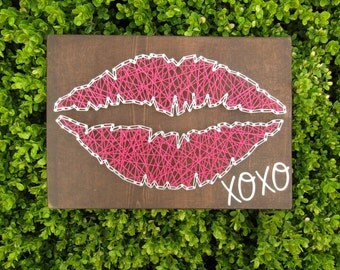 Lips Kiss XOXO String Art *Made-to-Order*