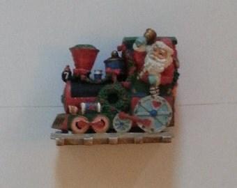 "Christmas, Santa Train, Multi Color, Painted, Very Heavy, Weighs 4 Pounds, 15 Ounces, 7"" Long, 4"" Wide, Santa Train # 7, Christmas Train"