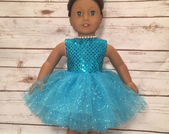 Handmade 18 inch Doll Clothes| Sparkling Sequin Party Dress made to fit dolls such as American Girl and other similar 18 inch dolls