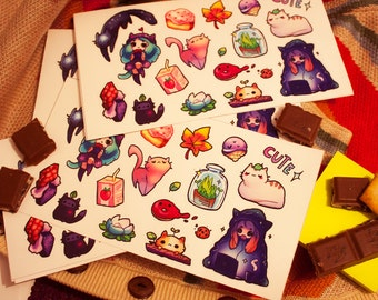 Lovely cute kitty vinyl stickers #12