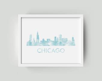Chicago Skyline Wall Art | Chicago Skyline Wall Print | Chicago Skyline Wall Decor | Chicago Wall Print | Chicago Skyline Poster