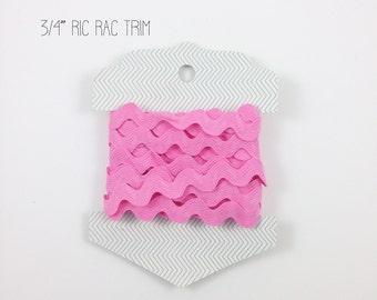 3/4 Ric-Rac, Pink Ric-Rac, Riley Blake Ric Rac, Rick Rack, Ric Rac Trim