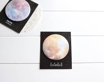 Yellow Moon Sticky Notes, Cosmic Moon Space Galaxy Post-it Notes, moon stickers (SN-117)