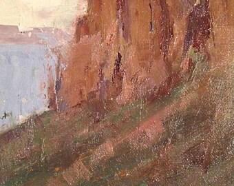 Pillars In The Sky, Original Landscape Oil Painting by René, Fine Art Paintings, Desert Painting, Wall Art, Arizona Painting, Original Art