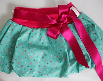 Cat paws print, girls skirt, baby skirt, toddler skirt, bubble skirt, cotton skirt, summer skirt, girls outfit, elastic waist, baby clothing