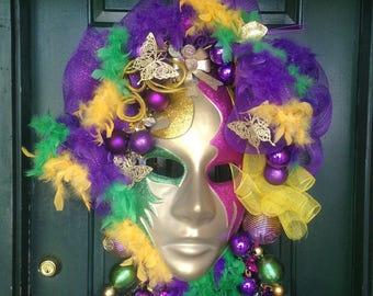 Front Door Mardi Gras Mask