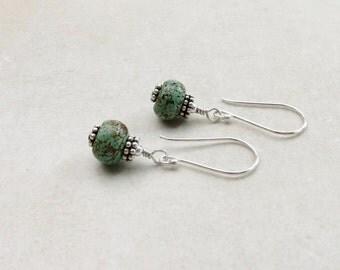 Turquoise Earrings // Earthy Earrings // Southwestern Jewelry // Everyday Earrings
