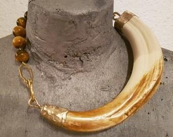 Resin facochero Fang necklace