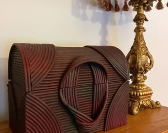 Upcycled Bentwood Storage Chest with Extra Compartment