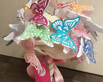 Bouquet of paper butterflies