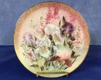 Iris Quartet 1991 Symphony of Shimmering Beauty Butterfly Plate by Lena Liu