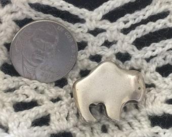 Vintage Silver Buffalo Pendant