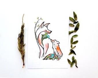 FOX BABY print art | nursery fox wall art, print baby fox, fox wall art print, fox baby art print, fox animal wall art, fox woodland art