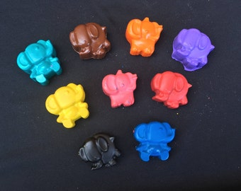 Elephant Crayons  Party Favors (10 bags)- Elephant birthday-
