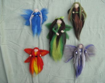 Needlefelted fairies