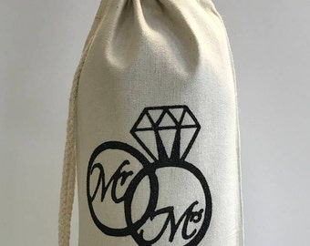 Personalized Wine Bottle Bag