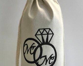 Personalized Wine Bottle Bag