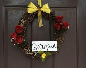 Be Our Guest Beauty and the Beast Wreath