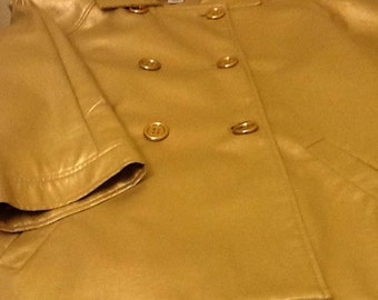 Gold leather blazer