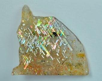 Rare Beautiful Rainbow Lattice Sunstone Crystal Australia