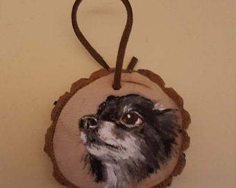Custom Painted Dog Portrait Ornament