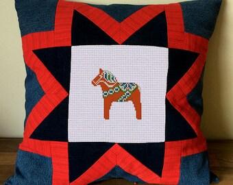 Swedish Dala Horse - Cross Stitch Pattern - B1