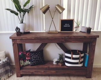 Custom Made Entryway Console Table- ONLY available in Oahu, Hawaii