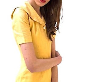 New York Vintage Yellow Fitted Dress
