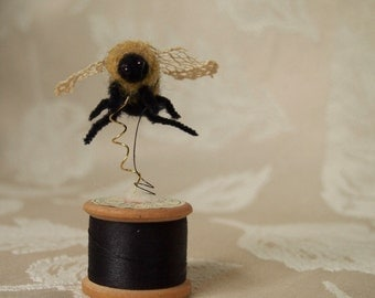 Needle felted bee...'Sewing Bee'!