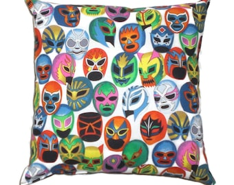 Lucha Libre Mexican Art Day of the Dead Throw Pillow Decorative Pillow Home Decor Bedding