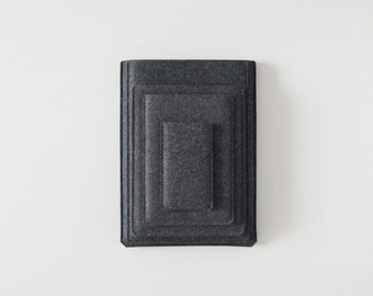 "Simple Series iPad Sleeve - Charcoal Felt - Short Side Opening for 10.5"" iPad Pro, 12.9"" iPad Pro, 9.7"" iPad and iPad Mini and Smart Covers"