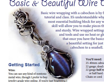 Jewelry Making TUTORIAL - Basic Wire Wrapping, Wrapped Cabochon Pendant - DIY, Beginner-Intermediate, DIY, pendant tutorial, jewelry lessons