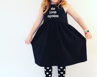 Black and White She loves dress