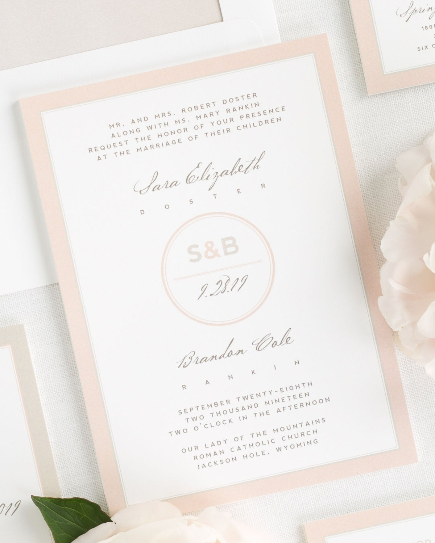 Modern Circle Logo Wedding Invitations Sample