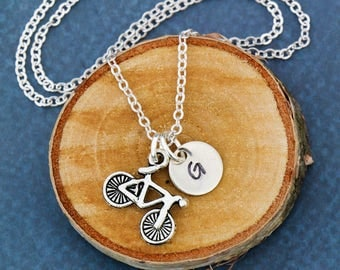 SALE • Bicycle Gift Cyclist Necklace Bicycle Jewelry Cycling Gift • Triathlon Jewelry Bike Necklace Road Biker Gift•Fitness Jewelry Exercise