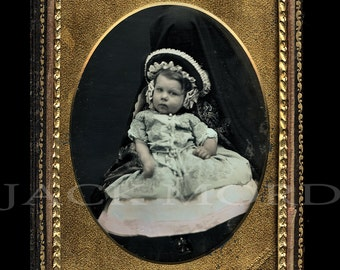 Rare 1/4 Hidden Mother Daguerreotype by Gurney
