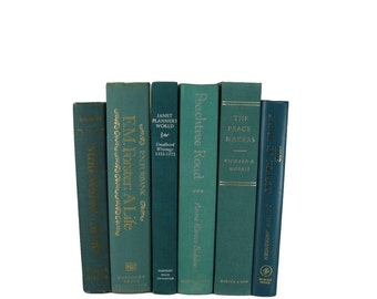 Vintage Green  Decorative Books , Vintage Book Sets , Photo Props , Vintage Wedding Decor