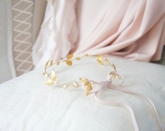 Small Gold & Pink Baby Crown - Small Gold Children's Crown - Baby Crown Photo Prop - Small Gold And Pink Tiara - Small Gold Princess Crown
