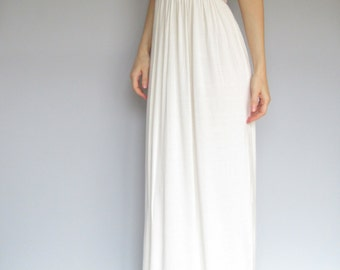 adore - ivory bamboo paired with vintage 1970's lace strapless maxi dress 34B small - boho chic hippie festival wedding