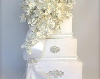 Wedding Card Box Orchid Wedding Card Holder Unique Elegant Wedding Card Box Custom Box Handmade Gift Card Box Wedding Gift Box