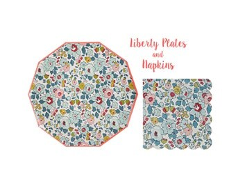 Liberty Paper Plates and Napkins by Meri Meri Toot Sweet