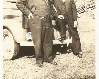 "Vintage Snapshot ""Mystery Man"" Photographer Shadow Homburg Found Vernacular Photograph"