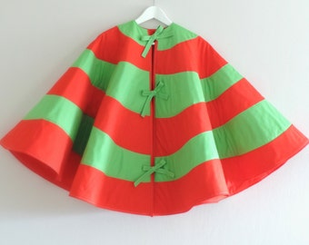 2017 PRE-ORDER: Seuss Christmas Tree Skirt - Striped, Dr Seuss Inspired - Red White & Lime Green Shown - 3 Sizes, 25 Colors - Ships Nov 2017